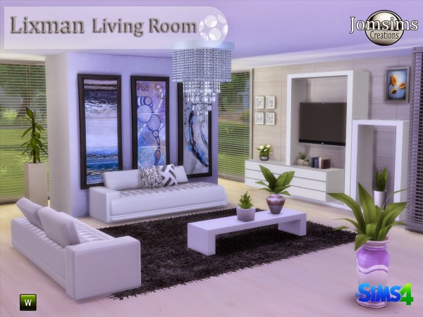 Jom Sims Creations Lixman Livingroom Sims 4 Downloads For Living Room Ideas  Sims 4