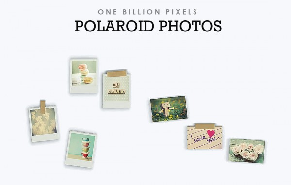 One Billion Pixels: Polaroid Cameras & Photos Wall Decor & Clutter