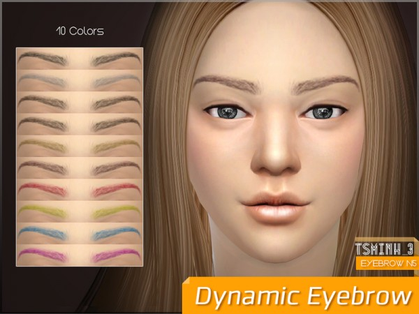 The Sims Resource: Dynamic Eyebrow by tsminh 3