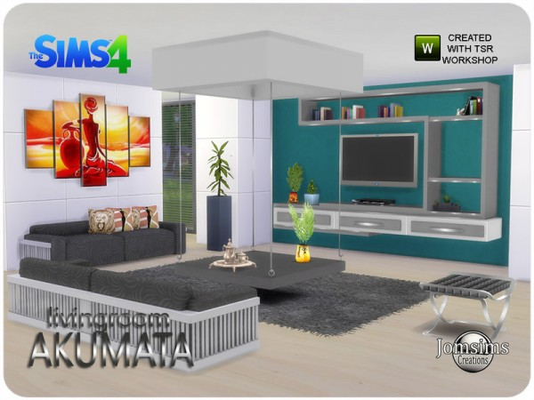 The Sims Resource: Akumata living room by Jomsims