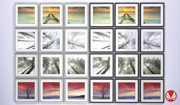Simsational designs: Squarely Triptych Landscape Paintings