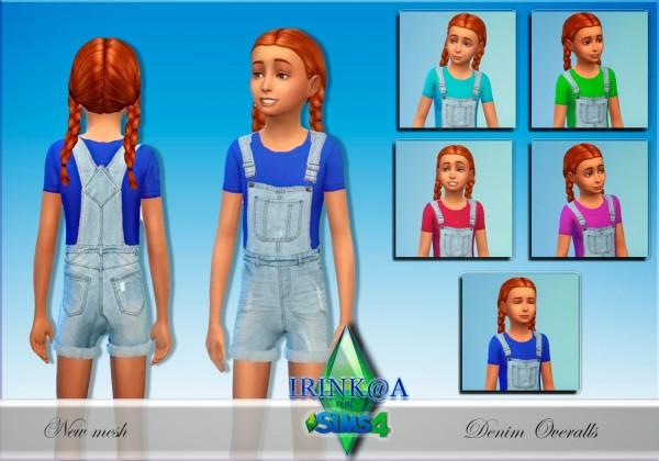 Irinka: Child Denim Overalls