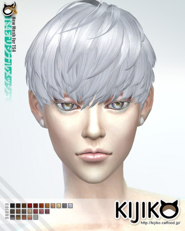 Kijiko Short Hair With Heavy Bangs For Female Sims 4 Downloads
