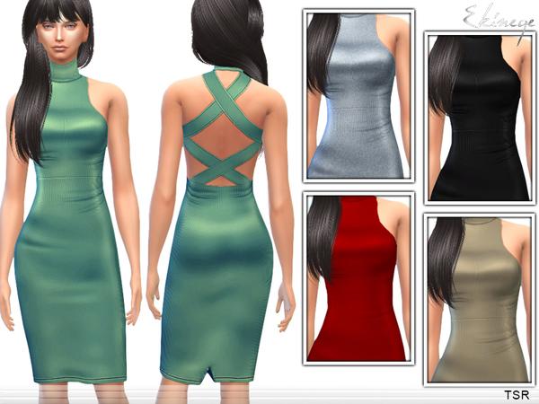 The Sims Resource: Cross Back Dress by Ekinege