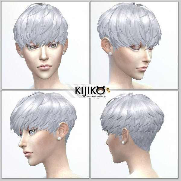Kijiko Short Hair With Heavy Bangs For Female Sims 4