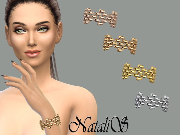 The Sims Resource: Metal beads bracelet by NataliS