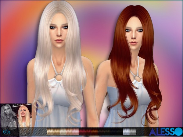 The Sims Resource: Alesso   60s (Hair)