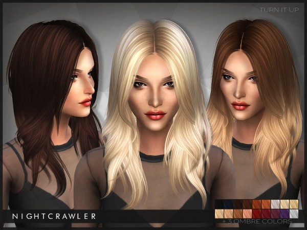 The Sims Resource: Nightcrawler Turn It Up hairstyle