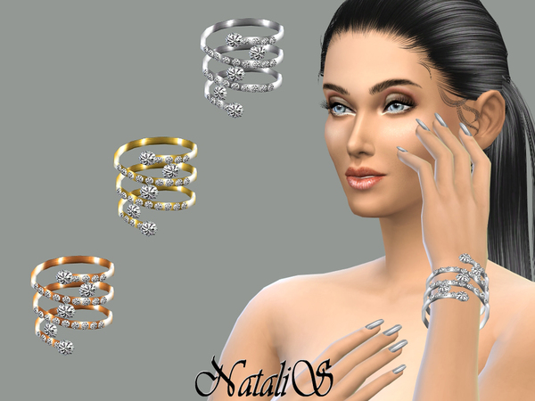 The Sims Resource: Spring and crystal bracelet by NataliS