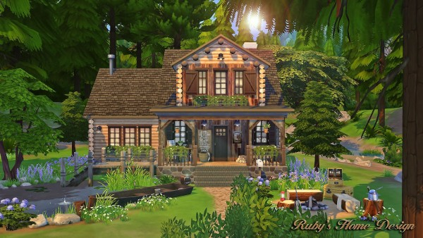 rubys home design forest cabin - Sims 4 Home Design