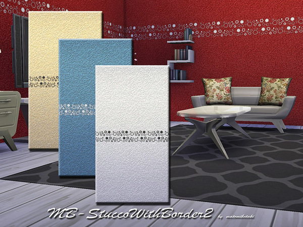 The Sims Resource: MB Stucco  With Border 2 by matomibotaki