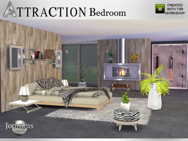 The Sims Resource: Attraction Bedroom by JomSims