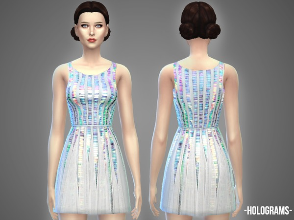 The Sims Resource: Holograms   dress by April