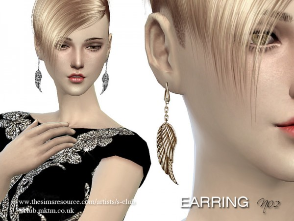 The Sims Resource: LL earrings 02 by S Club