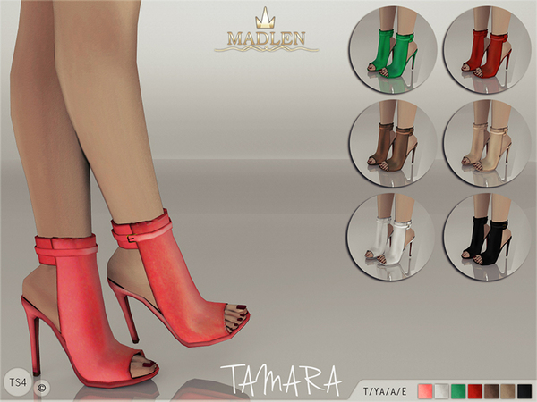 The Sims Resource: Madlen Tamara Boots by MJ95