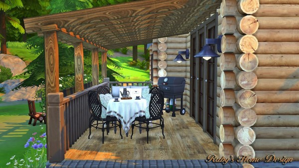 Ruby`s Home Design: Forest Cabin • Sims 4 Downloads