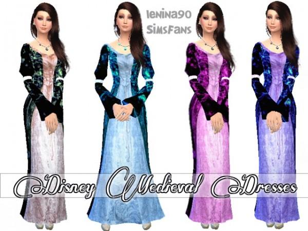 Sims Fans: Medieval Disney Dresses by lenina90