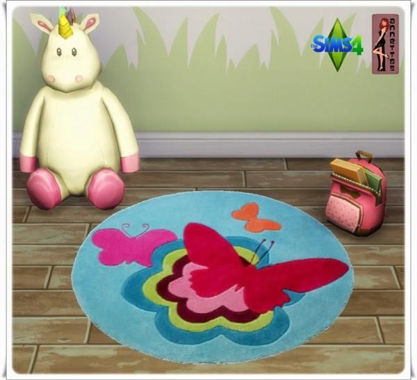 Annett`s Sims 4 Welt: Nursery Rugs Butterfly