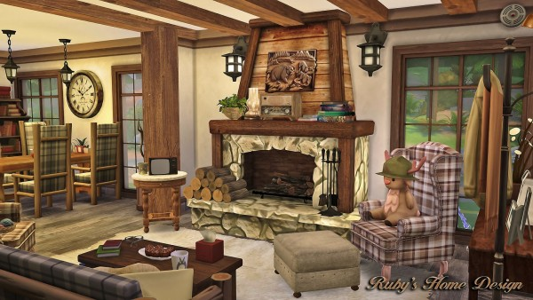 Ruby S Home Design Forest Cabin Sims 4 Downloads