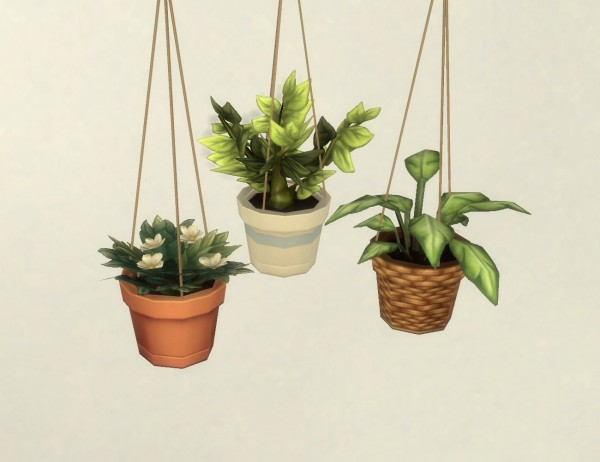 Mod The Sims: Modular Hanging Plants by plasticbox