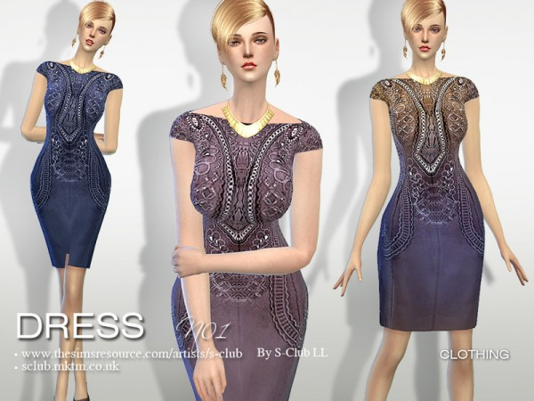 The Sims Resource: Dress 01 by S Club