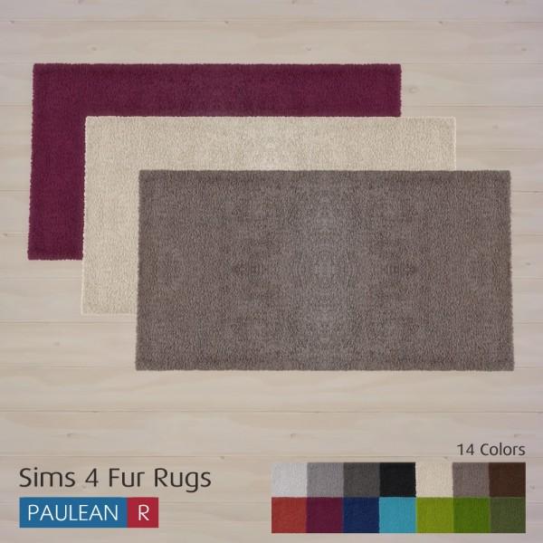 Paluean R Sims: Fur Rugs • Sims 4 Downloads