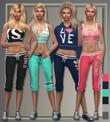 Sims 4 Cc S The Best Windows By Tingelingelater: All About Style: Athletic Separates • Sims 4 Downloads