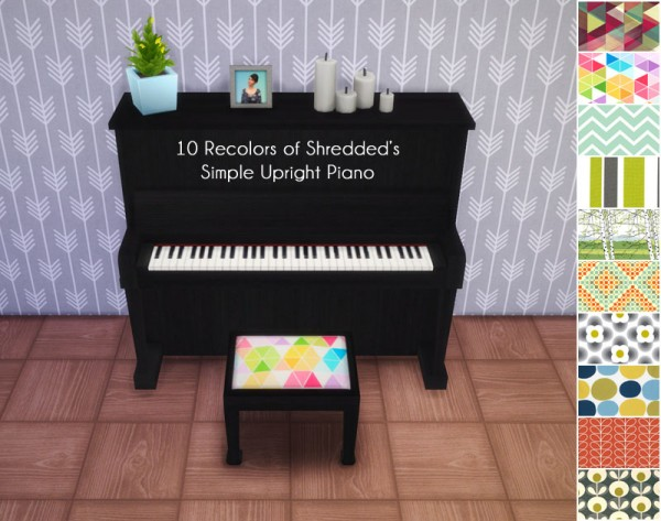 Allisas: 10 Recolors of Shredded's Simple Upright Piano