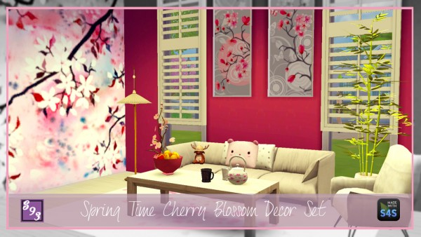 The Stories Sims Tell Spring Time Cherry Blossom Decor