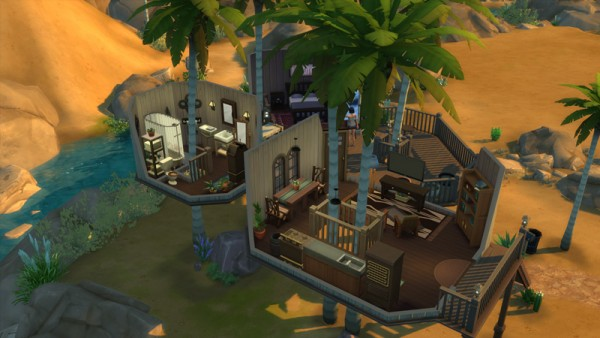 Mod The Sims Coconut Tree House By Keexz Sims 4 Downloads