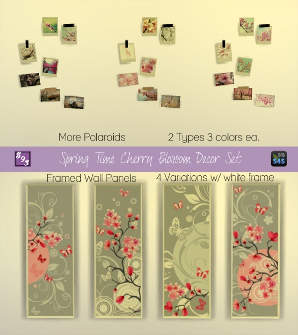 Sims 4 Cc S The Best Windows And Door Decor By Maximss: The Stories Sims Tell: Spring Time Cherry Blossom Decor