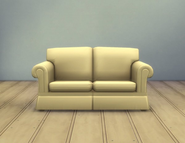 Mod The Sims: Hipster Loveseat by plasticbox