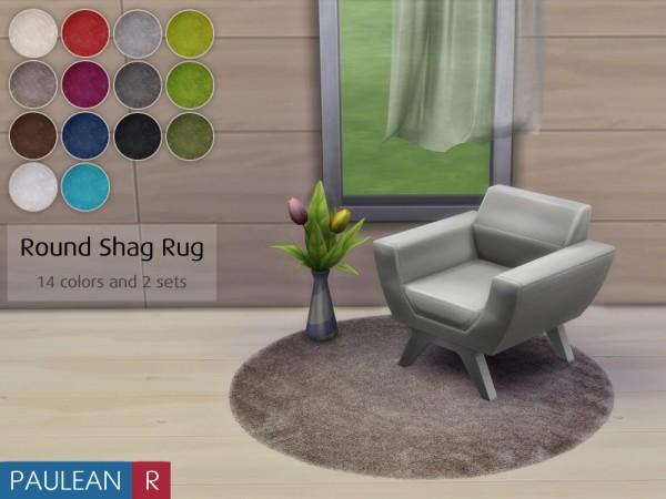Paluean R Sims Round Shag Rug Sims 4 Downloads