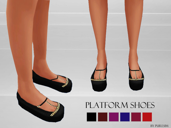The Sims Resource: Platform Shoes by PureSim