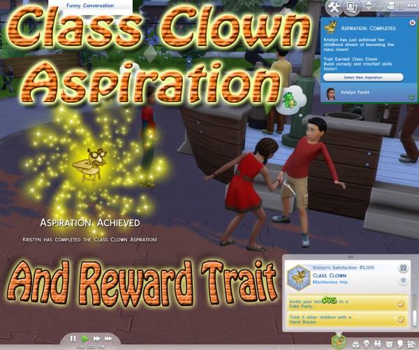 Mod The Sims: Class Clown Aspiration by scumbumbo
