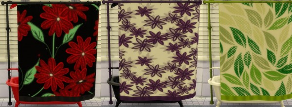 Mod The Sims: Shower Tub Set in 11 Seamless Patterns by wendy35pearly