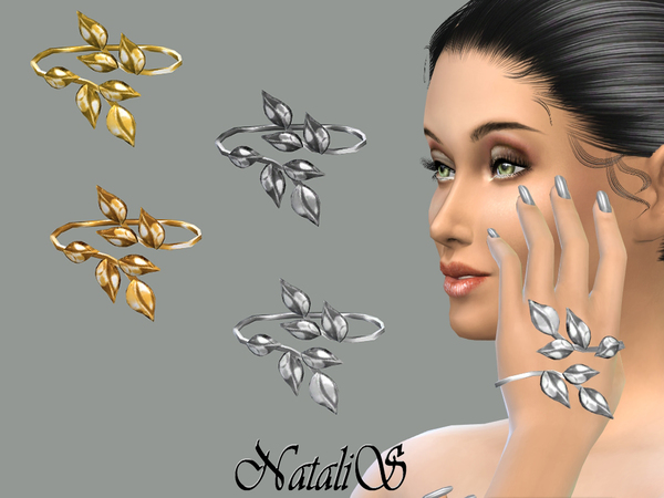 The Sims Resource: Hand leafs bracelet by NataliS