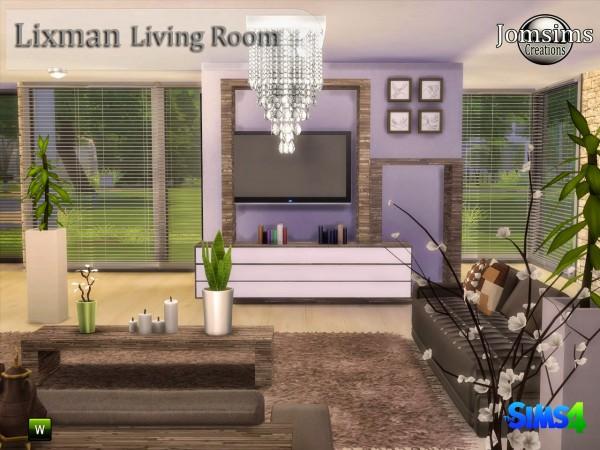 Jom Sims Creations: Lixman livingroom