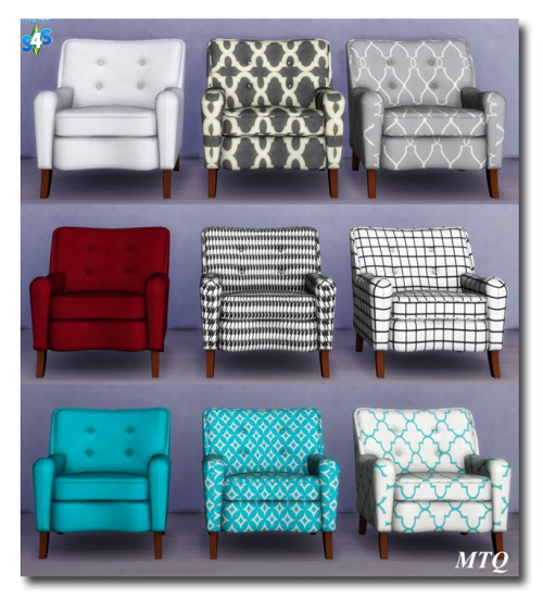 Msteaqueen: Awe Sims SF Club Chair converted from TS2 to TS4