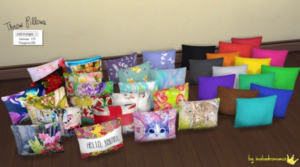 In A Bad Romance Throw Pillows O Sims 4 Downloads