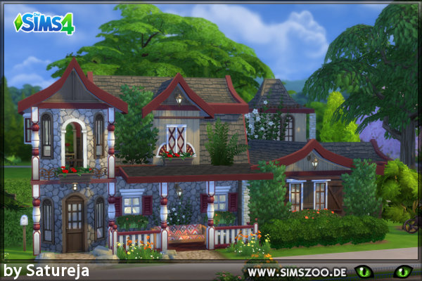 Blackys Sims 4 Zoo: Residential house by Satureja