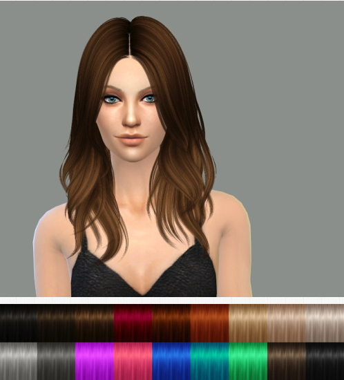 Delirium Sims: Retexture of Nightcrawler's Turn It Up hair