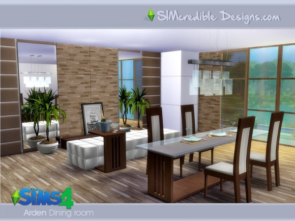 The sims resource arden dining room by simcredible sims for Sims 4 dining room ideas