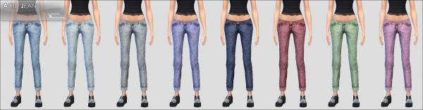 Mod The Sims: Acid Jeans  new mesh   8 colors   by Vampire aninyosaloh