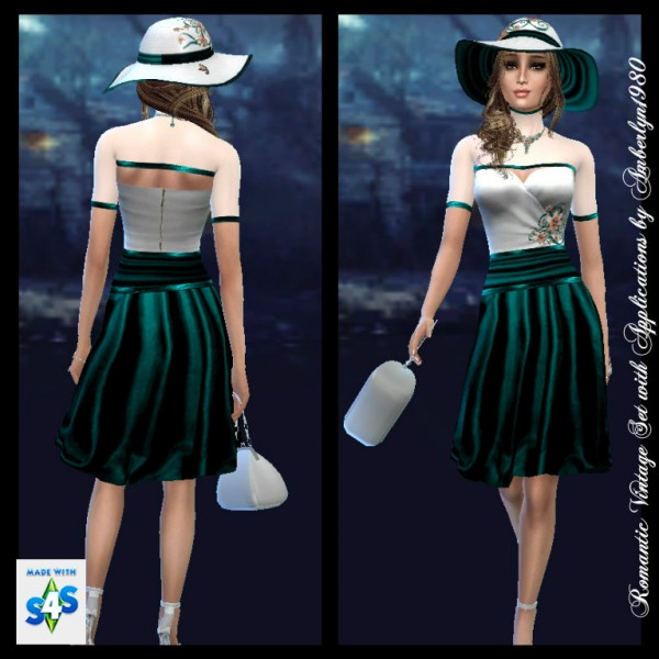 amberlyn designs sims  romantic vintage set with