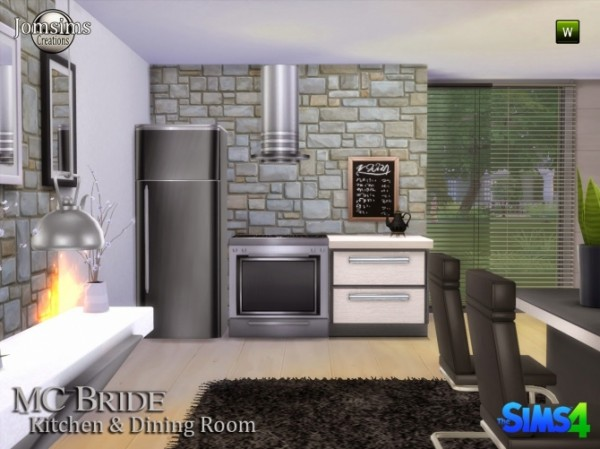 Jom Sims Creations: Mv bride kitchen and dinning room