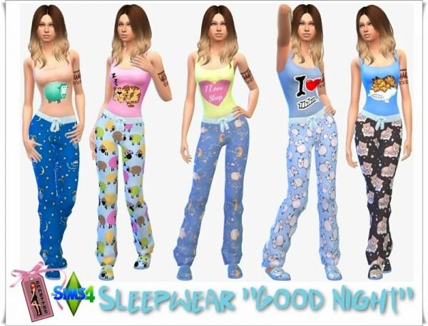 Annett`s Sims 4 Welt: Slepwear Good Night