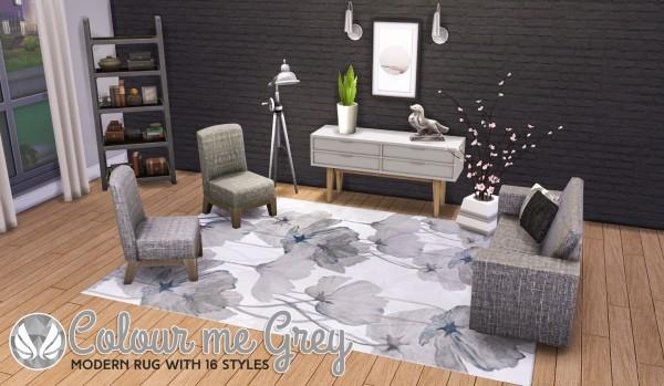 Simsational designs: Colour Me Grey Modern Rugs