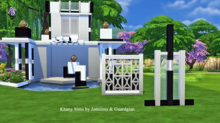 Khany Sims: Blocks, columns and walls in black and white by JomSims