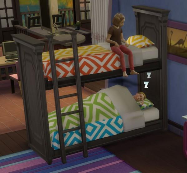 Martine Simblr Functional Bunk Bed Sims 4 Downloads
